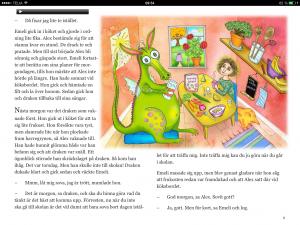 Emeli och draken – Niclas Malmberg och Alina Ögger. iBooks-bok med ljudspår.