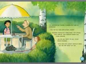 Hundtjuven – Suzanne Mortensen och Lisa Moroni. B. Wahlströms förlag. Fast layout med animationer, uppläsning och ordmarkering.