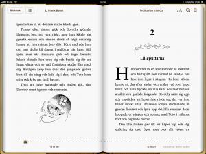 Trollkarlen från Oz – L. Frank Baum. Flytande layout med bilder. Digitalisering av tryckt bok.