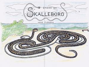 Sagan om Skalleborg – Hans Floderus. Fast layout. Digitalisering av tryckt bok.